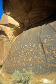 Ancient indian petroglyphs at Newspaper Rock State Historic Monument, near Moab, Utah, UT_03831, AGPix_1663
