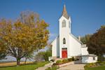 Canoe Ridge Lutheran Church, a country church set amid farms northeast of Decorah, Iowa, _MG_23284, AGPix_1688