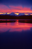 Sunset behind Fairweather Mountains, view from Bartlett Cove in Glacier Bay National Park, Alaska, AGPix_1707