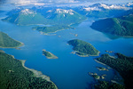 Aerial view of Hugh Miller Inlet in west arm of Glacier Bay National Park, Alaska, AGPix_1709