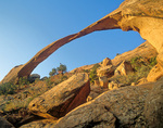 Landscape Arch at sunrise, view on Devil's Garden Trail in Arches National Park near Moab, Utah, AGPix_1721