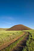 Backroad leading to SP Crater, a volcanic cinder cone, part of the San Francisco Volcanic Field north of Flagstaff, Arizona, AGPix_1727