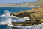 Waves wash coast of Santa Rosa Island at Lobos Canyon, Channel Islands National Park, California, AGPix_1741