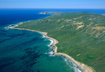 Aerial view of San Miguel Island, Crook Point on south side, Channel Islands National Park, California, AGPix_1749