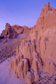 Cathedral Gorge State Park, twilight on eroded spires, near Panaca in eastern part of Nevada, AGPix_1769