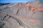 Hogback ridge, Bowl of Fire area, an eroded anticline, Lake Mead National Recreation Area, northeast of Las Vegas, Nevada, USA, NV_01218