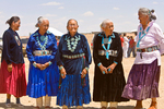 Contestant in Best Dressed Elderly Event at the Annual Natoni Horse Race at Rocky Ridge on the Navajo Nation, Arizona, AGPix_1802
