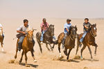 Racers riding bareback  in 3 Mile Mustang Race at the Annual Natoni Horse Race at Rocky Ridge on the Navajo Nation, Arizona, AGPix_1803