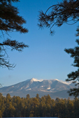San Francisco Peaks on winter morning, viewed from NAU campus, Flagstaff, Arizona, AGPix_1806