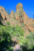 Pinnacles National Monument, hiker on High Peaks Trail, East of Soledad, California, USA, AGPix_1818