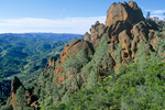 Pinnacles National Monument, volcanic rocks form spires and crags along High Peaks Trail, East of Soledad, California, USA, AGPix_1819