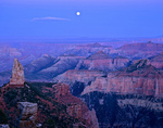 Moon rising over Grand Canyon from Point Imperial on North Rim of Grand Canyon National Park, Arizona, AGPix_1837