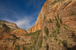 Views along the Hidden Canyon Trail of Cable Mtn and Echo Canyon, above Zion Canyon at Zion National Park, Utah, AGPix_1855