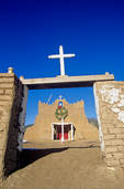 San Lorenzo Church at Picuris Pueblo, day before Christmas, south of Taos, New Mexico, AGPix_1874