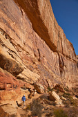 HIker on Golden Throne Trail in Capitol Reef National Park, Utah, AGPix_1910