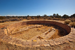 Kiva at Lowry Pueblo site in Canyons on the Ancients National Monument, Colorado, AGPix_1915