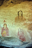 Ute Indian pictographs at Ute Mountain Tribal Park near Cortez, Colorado, USA, AGPix_1947