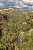 North Fork of the White River flows in canyon on Fort Apache Indian Reservation, Whiteriver, Arizona, USA, _MG2_16095