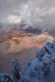 Winter views at Mather Point on the South Rim of Grand Canyon National Park, Arizona, USA, AGPix_1985