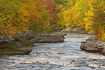 Autumn colors along the Kettle River at Banning Rapids in Banning State Park, Sandstone, Minnesota, AGPix_2003