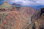 Colorado River and Inner Gorge on Grand Canyon viewed from upstream of Cottonwood Canyon, Grand Canyon National Park, Arizona, AGPix_2010