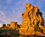Medicine Rocks, pillars of sandstone rise above the prairie at Medicine Rocks State Park, north of Ekalaka, Montana, AGPix_2016