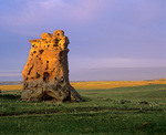 Medicine Rocks, pillars of sandstone rise above the prairie at Medicine Rocks State Park, north of Ekalaka, Montana, AGPix_2017