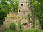 Ruins of the Abbey of Disibodenberg near village of Staudernheim, monastery where Hildegard of Bingen lived in her early years, southwest of city of Bingen, Germany, AGPix_2029