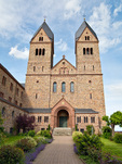 The new Abbey of St. Hildegard of Bingen, above Rudesheim, on east bank of the Rhine, Upper Middle Rhine Valley World Heritage Site, Germany, AGPix_2030