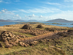 Bank for peat cutting along road near Meavaig on North Harris, Isle of Harris, Outer Hebrides, Scotland, AGPix_2031