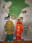 Exhibits and displays inside the visitor center at Takijiri, start of the Nakahechi Route of the Kumano Kodo Pilgrimage Trail, a UNESCO World Heritage site, on the Kii Peninsula, Wakayama Prefecture, Japan, AGPix_2034