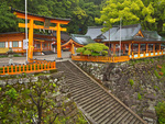 Kumano Nachi Taisha Grand Shrine, on Kumano Kodo Pilgrimage Trail, in Kii Mountain Range, UNESCO World Heritage site, on the Kii Peninsula, Wakayama Prefecture, Japan, AGPix_2045