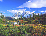Mt. Shuksan and Picture Lake in Washington's Cascade Range.