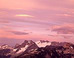 Whatcom Peak & Challenger Glacier in North Cascades National Park, Washington.