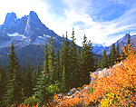 Liberty Bell Mtn in Washington's Cascade Range.