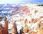 Winter view of Bryce Canyon from Sunrise Point