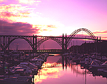 Newport Marina & Yaquina Bay Bridge Evening