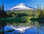 Mt. Hood & Pond in the Cascade Range, Oregon