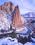 Winter view of Smith Rock State Park, Oregon