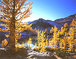 Autumn view of Sprite Lake in Washington's Alpine Lakes Wilderness