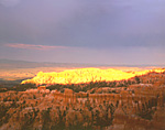 Evening sunbreak at Bryce Canyon National Park, Utah
