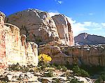 Navajo Sandstone Formations in Capitol Reef National Park, Utah
