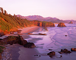 Crescent Beach & Pacific Ocean coastline at Ecola State Park near Cannon Beach, Oregon