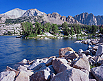 Sapphire Lake & White Cloud Peaks in central Idaho