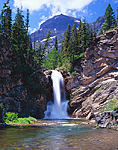 Running Eagle Falls in Glacier National Park, Montana