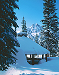 Gunsight Peak & shelter in the Elkhorn Ridge of Oregon's Blue Mountains