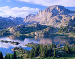 Island Lake & Fremont Peak in the Wind River Range of Wyoming.