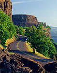 Historic Columbia River Highway near Rowena Crest Viewpoint, Oregon.