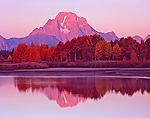 Sunrise view of Mount Moran & Snake River in Grand Teton National Park, Wyoming.