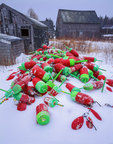 Lobster buoys and fish shanties in winter.